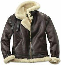 Men's RAF B3 Bomber Flight Aviator Fur Shearling Sheepskin Leather Jacket