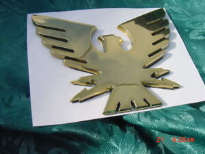 FORMULA BOAT GOLD BOAT BIRD EMBLEM LOGO THUNDERBIRD FIREBIRD  4-3/8 x 3-3/8 NEW