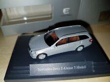 Mercedes E-Klasse T-Modell Silber Modellauto 1:87 in OVP Original Werbemodell