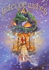 Elf Light Yuletide YULE Card - Briar Faery Elf with Dragon and Runes Solstice