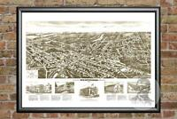 Old Map of Westwood, NJ from 1924 - Vintage New Jersey Art, Historic Decor