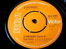 """Elvis Presley-surrender 7"""" vinyle"""