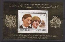 1981 Royal Wedding Charles & Diana MNH Stamp Sheet Togo Perf