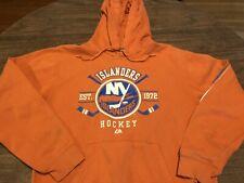 New York Islanders NHL Majestic Small Orange Hoodie Sweatshirt