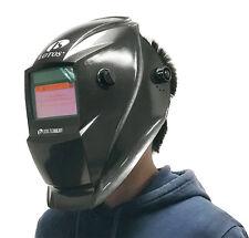 Lotos Solar Auto Darkening Onyx Black Welding Helmet Plasma Cut, TIG, MIG Weld