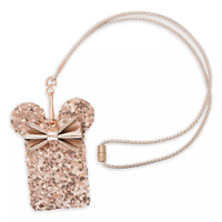 Disney Loungefly Minnie Mouse Briar Rose Gold  Lanyard Pouch