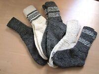 Schafwollsocken Schafwolle reine Wolle, Socken von Hand gestrickt Gr. 36 - 46