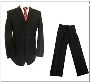 """Burton mens 2 piece suit Ch36""""R W30"""" L32"""" Dark Brown Shadow stripe Smart"""