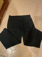 Merona Womens Lounge Pants Size Large Black Ribbed Sweatpants Lounger EUC