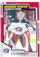 20/21 OPC..MATISS KIVLENIEKS..MARQUEE ROOKIES..RED PARALLEL..# 509..BLUE JACKETS