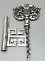 13 cm großer 835 Silber punziert Korkenzieher Bremer Wappen 128,70 Gramm / F811