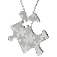 Pendant, Free Bead Ball Chain Stainless Steel Autism Awareness Puzzle Piece