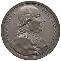s877) Pio VI (1775-1799) - Medaglia A.XXI Opera Pia ospitalità: OP Hamerani