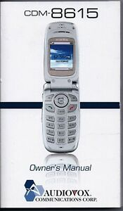 AUDIOVOX CELL PHONE CDM-8615 OWNER'S MANUAL ENGLISH & SPANISH