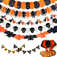 3M HALLOWEEN BANNER HANGING SKULL WALL DECORATION SCARY GUESTS DEAD PARTY DECOR