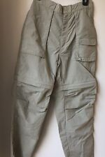 Men's Field & Stream Size M Convertible Pants to Shorts Hiking/Camping Tan  U 73