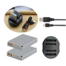 2 Batetry + Cargador USB para CANON NB-5L Digital IXUS 990 IS PowerShot S100 SD700