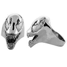 Heavy Sterling Silver Alien Biker Skull Ring