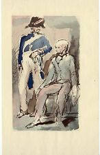 ILLUSTRATION de F.Salvat - Le Colonel Chabert - H. de Balzac - 1948.