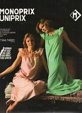 publicite  1975   MONOPRIX UNIPRIX  chemises de nuit