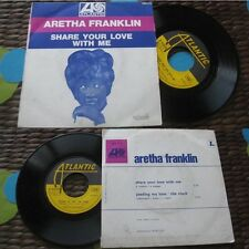 ARETHA FRANKLIN-Share Your Love With Me / Pleding My Love, The Clock Rare 7 Soul