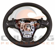 05-13 C6 Corvette GM Leather Auto Steering Wheel Yellow Stitching W Bluetooth