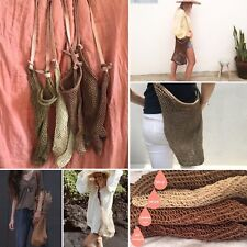 Agave Maguey Woven Net Shoulder Crossbody Market Mexican Bag wicker straw LOT 10
