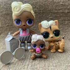 LOL Surprise Dolls Funky QT & Funky Cat Pet &Lil Funky QT Family Set Rare Toy