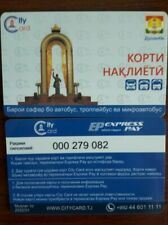 Transport card Tajikistan city card dushanbe