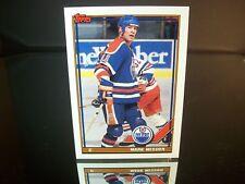 Mark Messier Topps 1991 Card #346 Edmonton Oilers NHL Hockey
