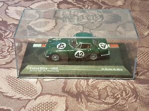 24 Heures du Mans Voiture 1/43 N°42 Lotus Elite de 1959 Jim Clark John Whitmore