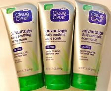 Clean & Clear Advantage Daily Soothing Acne Scrub 5 oz. (3 PACK)