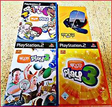 PS2 3 EYETOY Games + CAM 100-derte Lustige Bewegungs Mini Games