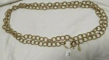 CHICO'S Women's Belt Size one size fits most METAL Gold tone METALLIC chain