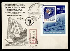 DR WHO 1987 POLAND REGISTERED SPACE SLOGAN CANCEL S/S HOTEL ADVERTISING? g42254