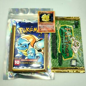 VINTAGE WOTC Pokemon Cards Lot Of 10 + Mini 1st Ed. Card & Sealed Booster Pack!