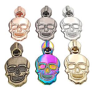 Skull Skeleton #5 Zip Slider Nylon Coil Zipper Pull Bag Making Hardware Novelty