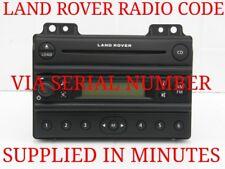LAND ROVER FREELANDER CAR STEREO UNLOCK SECURITY CODE SERVICE VIA SERIAL NUMBER