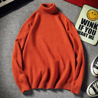 Men's Stretch Shirts Thermal High Collar Turtleneck Pullover Long Sleeve Sweater