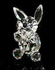 """Crystal Rabbit with Carrot Figurine Made in Czech Republic 1.75"""" x 1"""" 1033"""