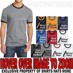 Mens Ringer T-Shirt Preshrunk Cotton Tee  S, M, L, XL, 2XL, 3XL, 4XL NEW