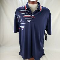 Men Ben Hogan Performance Golf Athletic Polo Shirt Blue Gray Black Orange Purple
