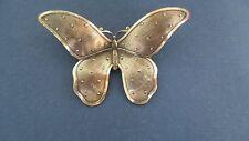 Silver Tone Butterfly Brooch Beautiful Detail