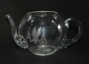 American Airlines Clear Glass Teapot