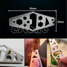 Stainless Multi Tool Hex Wrench Bottle Opener Pry Bar Bottle Opener Ruler New