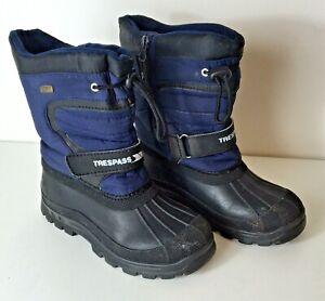 Trespass Kukun Waterproof Snow Boots Size: 3 (UK) 36 (EUR) Blue / Black VGC