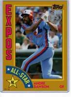 Andre Dawson 2019 Topps 1984 Topps All-Stars Oversize 5x7 Gold #84AS-AD /10 Expo