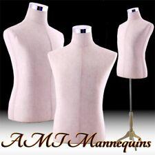 Male mannequin torso w. adjustable stand +2 covers, white /black Torso Mpm-102