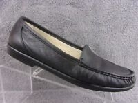 SAS Tripad comfort Simplify Black leather moc toe slip on loafer womens size 11S