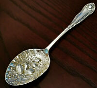 Potter Sheffield Silver Plated Spoon Vintage Fruit Nut A1 Victorian Style 5.5""